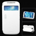 LLMM i Stylish Flip-open PU Leather Case w/ CID Window / Holder / Unlock Key for Samsung S4 i9500