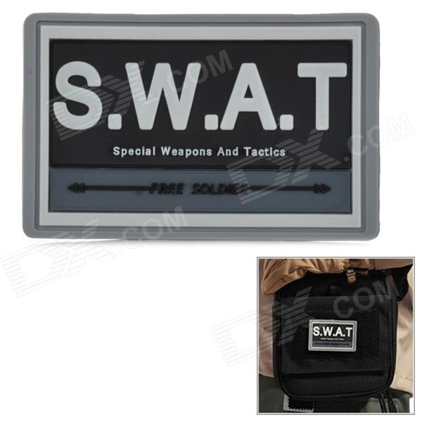 Free Soldier Rubber Armband Velcro Band Sticker - Black + Grey