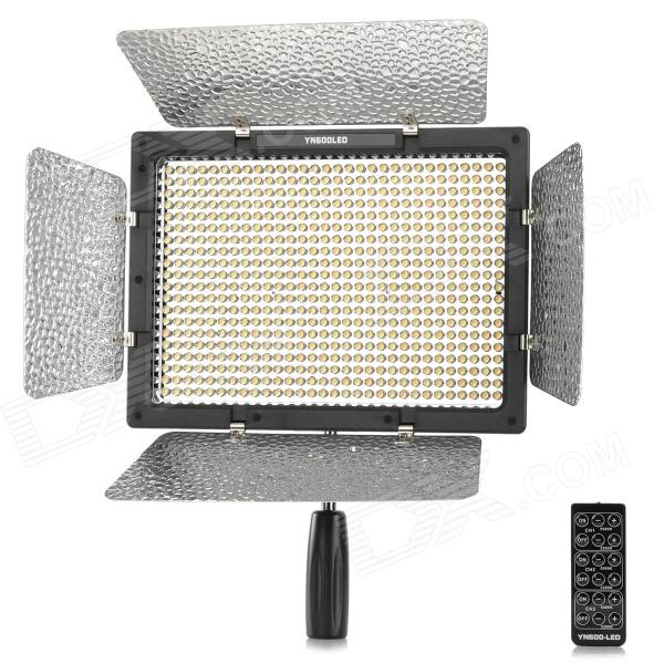 YONGNUO YN600L Universal 36w 4680lm 3200K/5500K Adjustable 600 LED Camera Light - Black