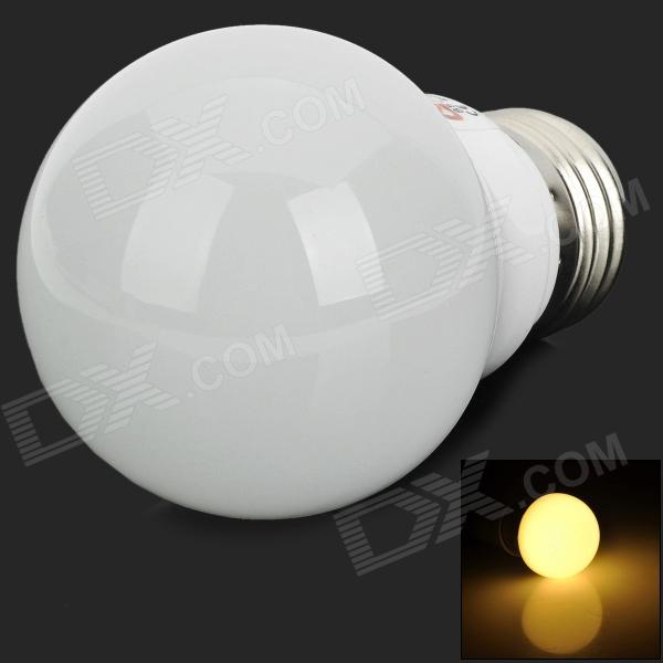 LeXing LX-QP-3 E27 3W 190lm 3500K Warm White Light 6-SMD 5730 LED Bulb - Silver + White lexing lx qp 20 e14 6w 470lm 3500k 15 5730 smd led warm white light dimmable lamp ac 220 240v