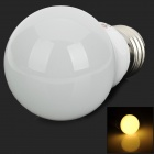 LeXing LX-QP-3 E27 3W 190lm 3500K Warm White Light 6-SMD 5730 LED Bulb - Silver + White