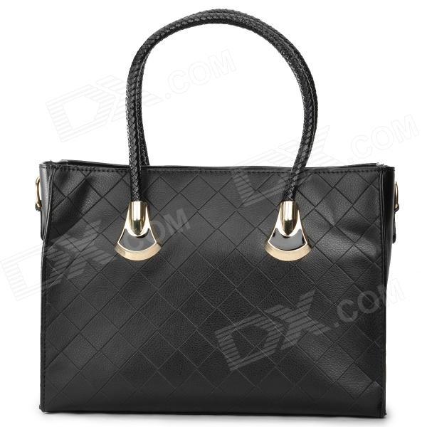 GW01 Fashion PU Handbag for Women - Black