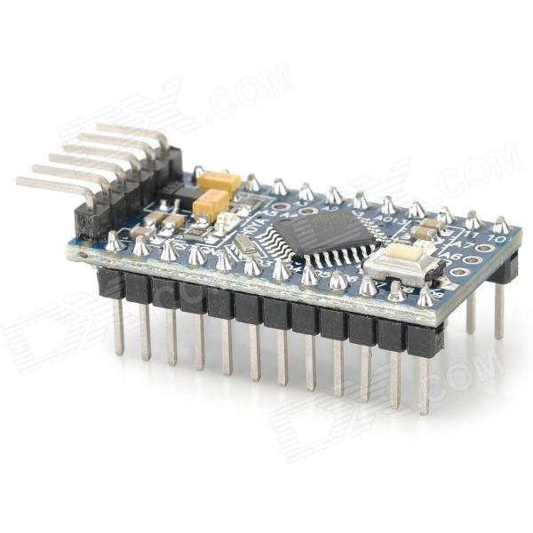 Funduino Pro Mini ATMEGA328P Board (Works with Official Arduino Board) - Blue + Black