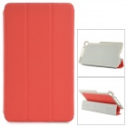 Stylish Slim Flip-open PU Leather Case w/ Holder + Auto Sleep for Google Nexus 7 II - Red