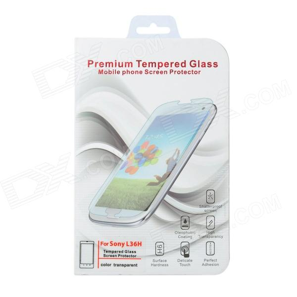 Protective Tempered Glass Clear Screen Guard Film for Sony L36H - Transparent защитные стекла liberty project защитное стекло lp для nokia 630 tempered glass 0 33 мм 9h ударопрочное