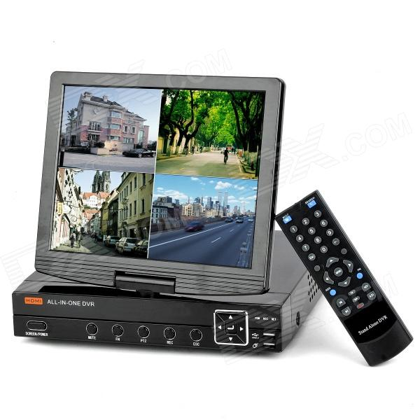 3008H 10 LCD 8-CH Security DVR w/ H.264 / D1 Resolution / HDMI Port - Black