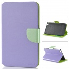 Stylish Silver Pattern Flip-open PU Case w/ Holder + Card Slot for Samsung Tab 3 8.0 / T310 / T31