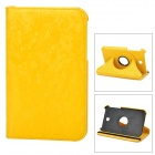 Protective 360 Degree Rotation PU Leather Case for Samsung P3200 - Yellow