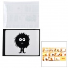 "Mess Hair Kid Pattern 3M Sticker Set for Apple MacBook 11"" / 13"" / 15"" / 17"" - Black"