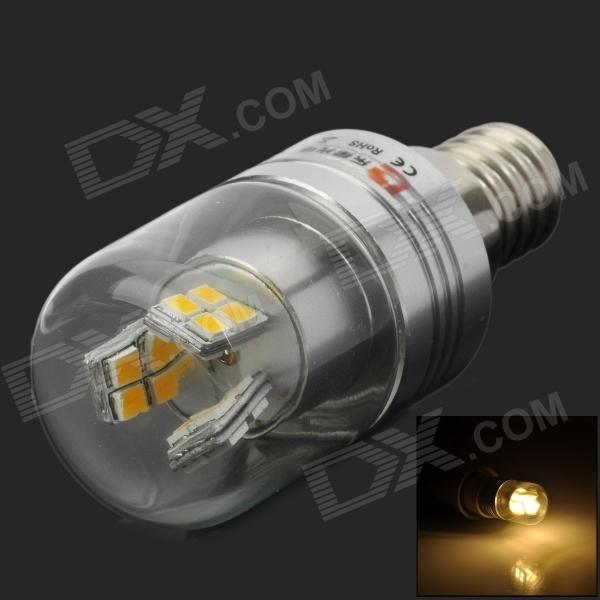 Lexing LX-YMD-043 3w 230lm 3500k E14 SMD-2835 Warm White LED Corn Lamp - White + Silver lexing lx lzd 1 e14 3w 200lm 3500k 6 smd 5730 led warm white lamp bulb 85 265v