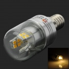 Lexing LX-YMD-043 3w 230lm 3500k E14 SMD-2835 Warm White LED Corn Lamp - White + Silver