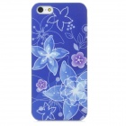 Relief Flower Style Protective PC Back Case for Iphone 5 - Blue