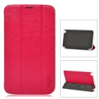 XUNDD Protective PU Leather + Plastic Case for Samsung Galaxy Tab 3 T310 / T311 - Deep Pink + White