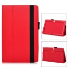 "Protective PU Leather Case for Microsoft Surface RT 10.6"" - Red"