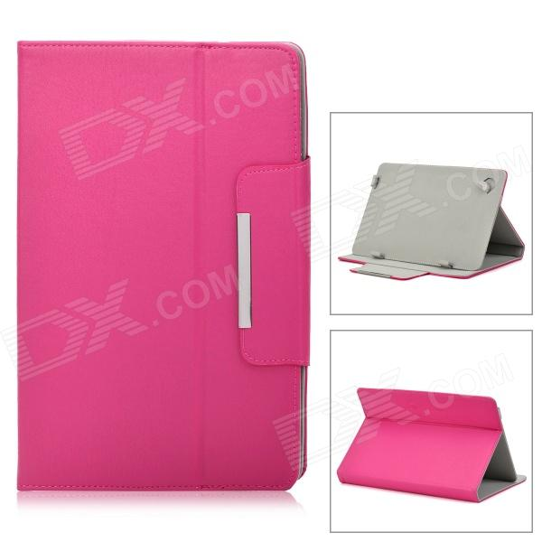 Protective PU Leather Case for 10.1 Tablet PC - Deep Pink protective pu leather case for 9 7 tablet pc deep pink