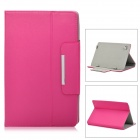 "Protective PU Leather Case for 10.1"" Tablet PC - Deep Pink"