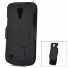 Stylish Protective Plastic Case w/ Clip for Samsung Galaxy S4 Mini i9190 - Black