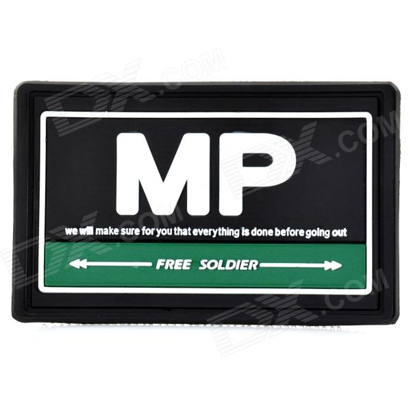Free Soldier ZY-004 Rubber MP Velcro Sticker - Green + Black + White