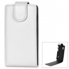 Stylish Protective PU Leather + Plastic Case for LG Optimus L5 II - White + Black