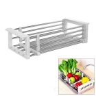Kitchen Plate / Dishes Tableware Leachate Rack - White + Silver