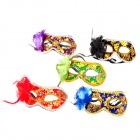 W298 Half-face Crew-cut Flower Decorated Mask for Costume Party / Halloween / Ball (5 PCS)