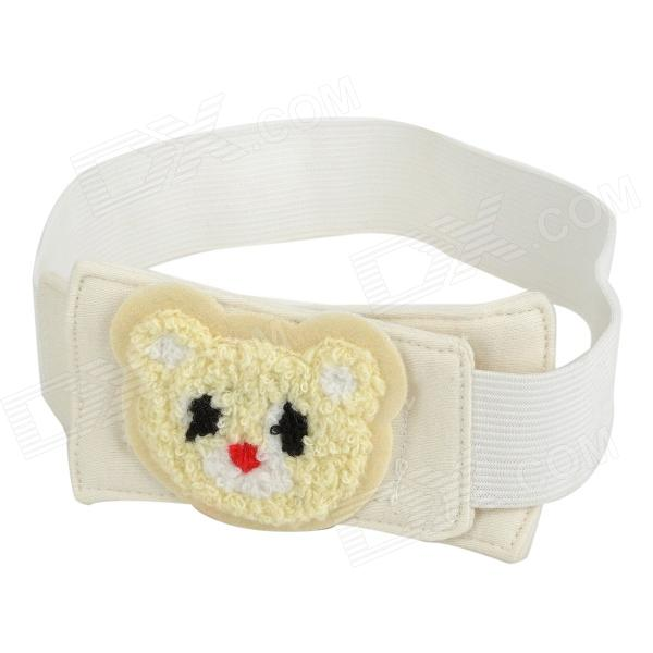 NBK-01 Adjustable Cotton Baby Diaper Fixing Velcro Belt - White + Yellow + Black + Red