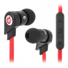 Syllable G02-003 Stylish In-Ear Earphones w/ Microphone / Cable Control for Samsung - Black + Red