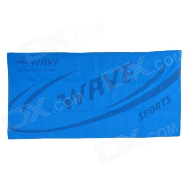 Wave Sport Microfiber Quick Dry Beach Towel - Blue