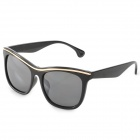 OREKA DY781 Fashionable Golden Line Detailed UV400 Sunglasses - Black