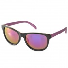 OREKA DY788 Women's Stylish UV400 Purple REVO Lens Sunglasses - Black + Purple
