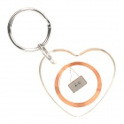 Heart Shaped Rewritable Waterproof 13.56MHz NFC Smart Tag - Transparent + Copper + Silver