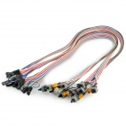 Computer Chassis Switch Cables - Multicolored (50cm / 5 PCS)