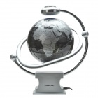 CHEERLINK 200mm All-Direction Rotating Maglev Floating Globe - Silver + Black (EU Plug/ AC 100~240V)