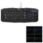 Dareu Avenger USB 2.0 Wired 122-Key Gaming Keyboard w/ 7-Color Backlight - Black