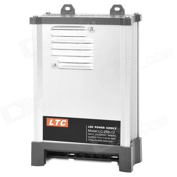 LTC LC-12-250W Energy Efficient Rain-proof Switching LED Power Supply - Silver + Black (175~240V)