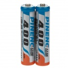 Pineng 1.2V 400mAh Rechargeable NiCd AAA Batteries - Blue + Orange + Silver (2 PCS)