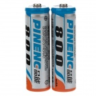 Pineng 1.2V 800mAh Rechargeable NiCd AA Batteries - Blue + Orange + Silver (2 PCS)