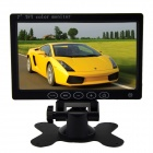 "7.0"" Touch Key TFT LCD  PAL / NTSC Car Monitor w/ Dual Video Input, Remote Control - Black"
