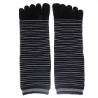 Fashionable Men's Wool Toe Socks - Black + Grey (Pair)