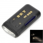 ZW SKY668 Portable Mini Currency Detector w/ Flashlight - Black