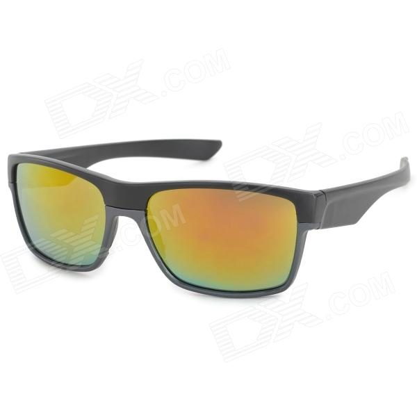 Oreka BD7891 UV400 Protection PC Frame PC Lens Sunglasses - Black + Grey
