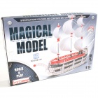 Iron Commander SM178962 DIY Metal Assembled Sailing Toys - Silver + Red