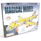 Iron Commander SM181867 DIY Metal Assembled Aircraft Toy - Silver + Yellow + Red
