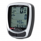 "BoGeer 1.6"" LCD Cycling Bicycle Speedmeter Odometer - Black + Silver"