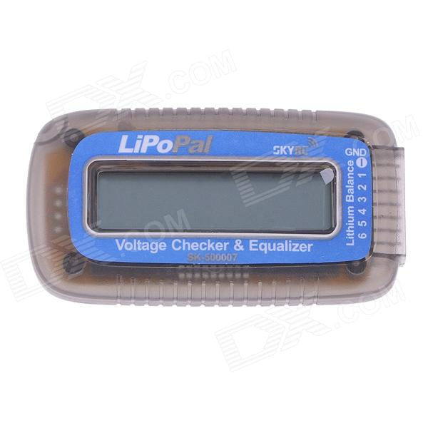 Skyrc LiPoPal 2-6s Lipo Battery Voltage Checker Equilizer Voltage Indicator Self Voltage Balancer