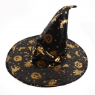 PDMF-NWM Mysterious Witch Hat for Halloween Cosplay - Black + Golden