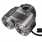 SingFire SF-813 1200lm 3-Mode White Bicycle Headlamp w/ 2 x Cree XM-L T6 - Silver + Grey (4 x 18650)