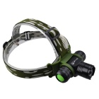 SingFire SF-812 Cree XM-L T6 500lm 5-Mode Zooming Headlight - Black + Green (1 x 18650 / 3 x AAA)