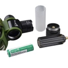 SingFire SF-812 500lm 5-Mode Zooming Headlight w/ Cree XM-L T6 - Black + Green (1 x 18650 / 3 x AAA)