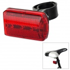LY-P03 3-Mode 3-LED Red Light Bicycle Tail Light - Red + Black